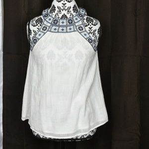 Joie embroidered halter tank size xs